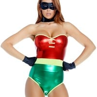 Metallic Sidekick Robin Bodysuit Costume
