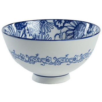 Blue and White Chinese Bowls, Set of 4
