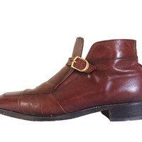 Oxblood Boot Oxblood Leather Men Ankle Boot Florsheim Imperial Florsheim Boot Men Boot 10 Retro Boot 60s Boot 1960s Boot Chukka Boot