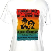Blues Brothers Concert T-shirt - Movie Palace Hotel Ballroom Concert Performance Poster Men's Tshirt White