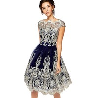 Elegant Women Lace Dresses Summer Prom Floral Formal Evening Party Ball Gown Dress Hot