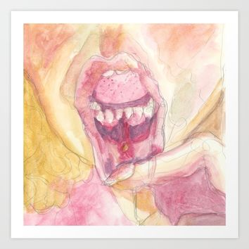 Butterfly: Mouth Ulcer Art Print by Alayna H.