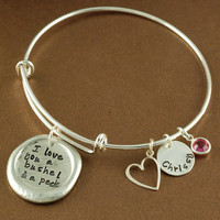 I Love you a Bushel & A Peck - Bangle Bracelet - Alex and Ani Inspired