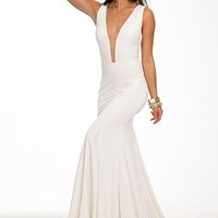 Jovani 22884 - Sexy Jersey Gown - RissyRoos.com