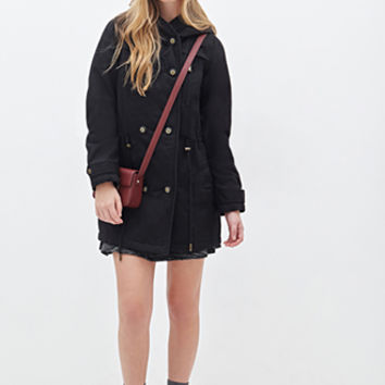 FOREVER 21 Double-Breasted Parka
