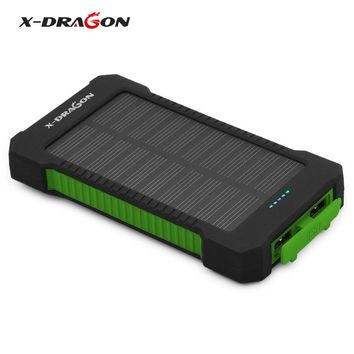 X-DRAGON Power Bank 10000mAh Solar Phone Charger for iPhone 4s 5 5s SE 6 6s 7 7plus 8 X Samsung