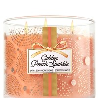 3-Wick Candle Golden Peach Sparkle