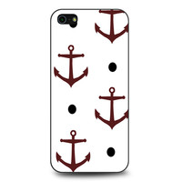 Nautical Anchor Navy Pattern Print iPhone 5 | 5S case