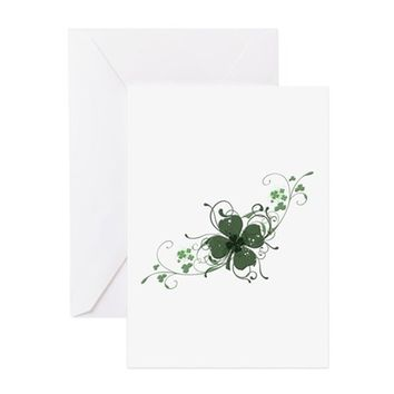 ELEGANT SHAMROCK GREETING CARD