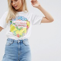 ASOS DESIGN T-Shirt With Limonada Print at asos.com