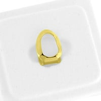 Open Face Tooth Mouth Griilz 14k Gold Finish
