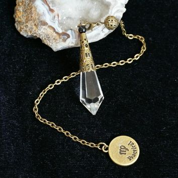 Tarot Divination Faceted Crystal Pendulum Constellation Vintage Wicca Pagan Altar Props New