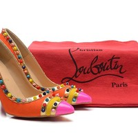 Christian Louboutin Color Nails High Heels 100mm
