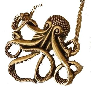 Pirates of the Caribbean Octopus Pendant Necklace For Women