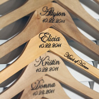 Standard Custom/Personalized Wedding Hanger by delovelydetails