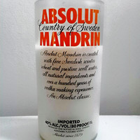 Absolut Mandarin Vodka Bottle 100% All Natural Soy Candle