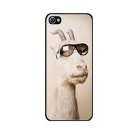 Handmade Case for iPhone 4S with Goat with Sunglasses design - Made to Order - Fast Shipping with Tracking number from USA -