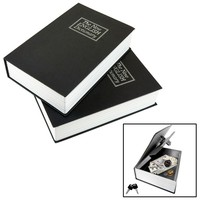 Evelots 2 Locking Book Safes, Diversion Safe, Secret Hidden Safe