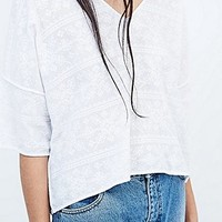 Cope Oversize Textured Tee in White - Urban Outfitters