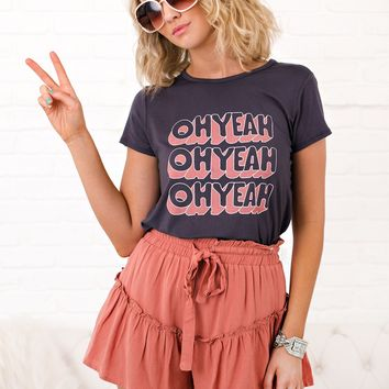 Oh Yeah Graphic Tee (Charcoal)