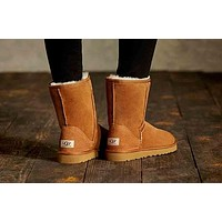 UGG Women Classic Short Boots 5825 Brown I