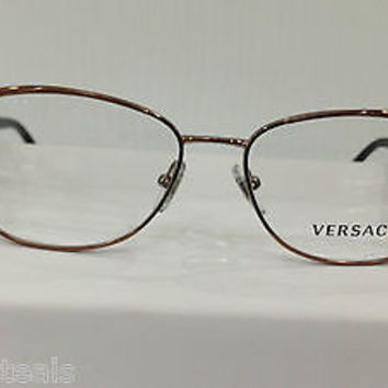 versace ve1196 col 1045 brown eyeglasses frame mod 1196 cat eye