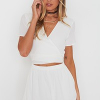 Instant Crush Playsuit White - Clothing