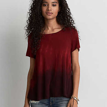 AEO Soft & Sexy Swing T-Shirt, Burgundy