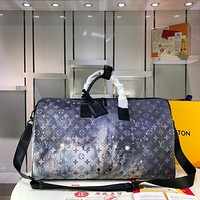 LV Louis Vuitton MEN'S MONOGRAM GLAZE CANVAS Keepall 50 TRAVEL BAG
