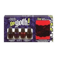 OPI Go Goth Nail Lacquer Set for Women, Unripened, Nevermore, Sanguine and Obscurity