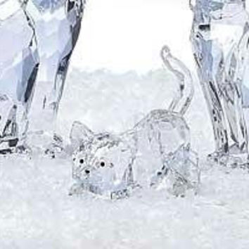 6 Crystal Figurines - Kitten