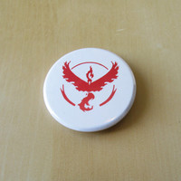 Pokemon GO Button ~ Team Valor : 1.75 inch