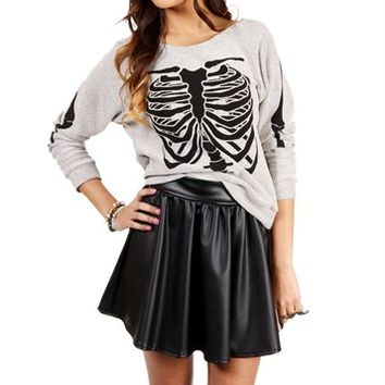 Heather Grey Skeleton Sweater