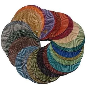 "Indo 2 Tone 15"" Round Placemat 