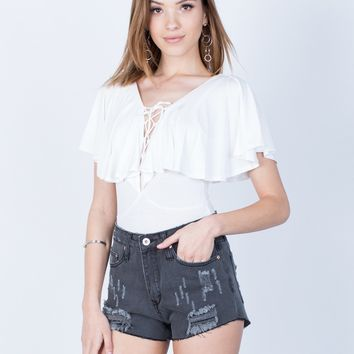 Shred it Denim Shorts