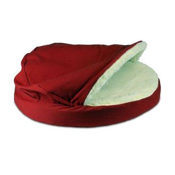 Snoozer Orthopedic Cozy Cave Pet Bed, Small, Red