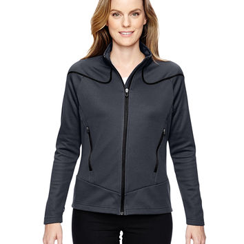 North End Sport Red Ladies' Interactive Cadence Two-Tone Brush Back Jacket