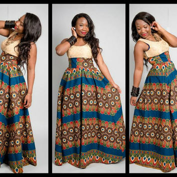 long african ankara dress.