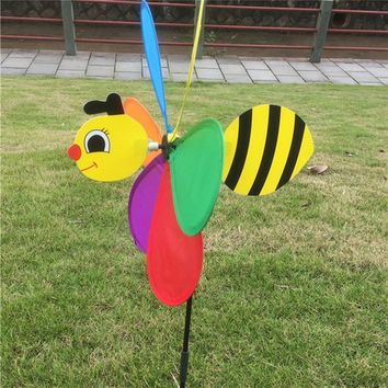 Colorful 3D Insect Large Animal Bee Ladybug Windmill Wind Spinner Whirligig Yard Garden Outdoor Lawn Decor