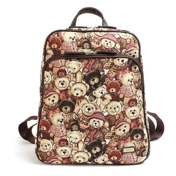 School Backpack Danny Teddy Bear Printing Girls Cute School Bags College Students Popular Campus Backpack Winnie Pooh Cartoon Book Bag Feminina AT_48_3