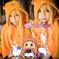 [Himouto! Umaru-chan] Cutie Home Wear Hoodie Cape/T-shirt/Pants SP153566 from SpreePicky