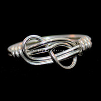 Sterling Silver Handmade Nautical and Climber's Knot Ring - Sirens and Sailors Collection