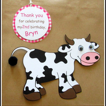 Farm Animal Gift Bags with Thank You Tags