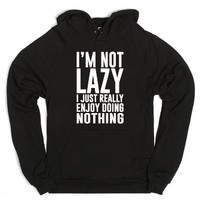 I Really Enjoy Doing Nothing-Unisex Black Hoodie