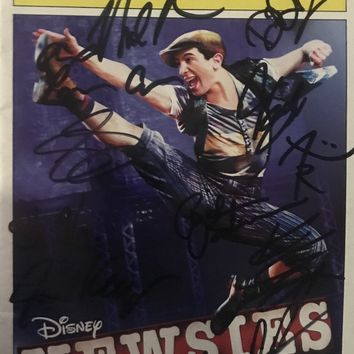 Newsies 1St National Tour - Signed Playbill San Antonio