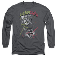 Saturday Night Live Laser Cats Charcoal Long-Sleeve T-Shirt