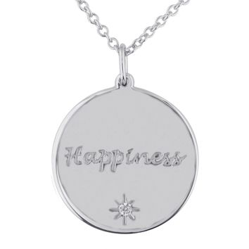 Personalized Diamond Round Necklace