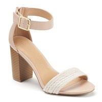 LC Lauren Conrad Women's Woven High Heel Sandals