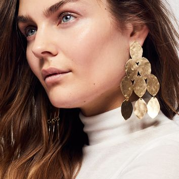 Free People Hibiscus Patina Earring