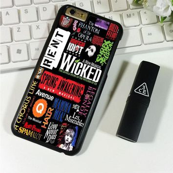 Broadway Musical Collage iPhone 6 Plus | 6S Plus Case Planetscase.com